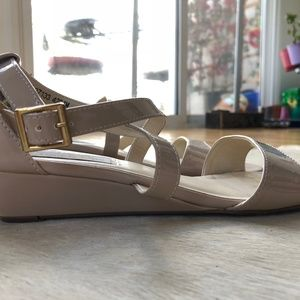 97543344d8 Touch Ups Shoes | Shyla Wedge Sandal Nude Patent | Poshmark
